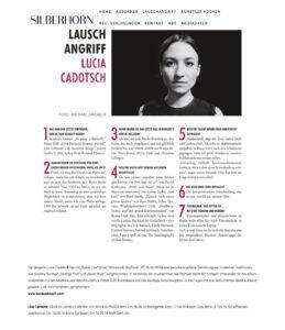 Lauschangriff - silberhornmagazins Webseite! Kopie