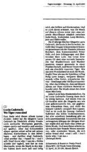 schneeweiss-rosenrot_presse-2011_Tages Anzeiger Zürich 12-04-2011
