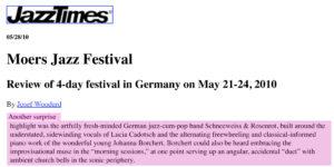 schneeweiss-rosenrot_presse_2009-2010_jazztimes_moers_review
