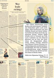 yellow-bird_presse-2015_Märkische Allgemeine 31-01.15
